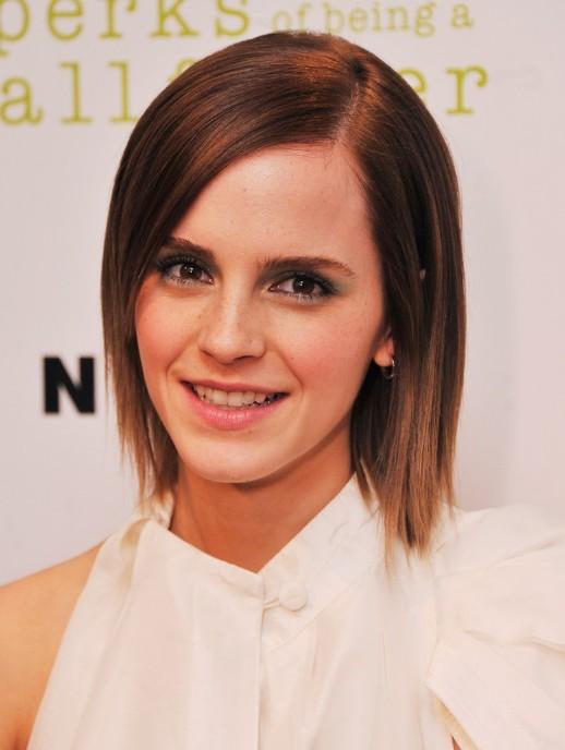 Emma Watson Sleek Short Straight Hairstyles Popular Haircuts