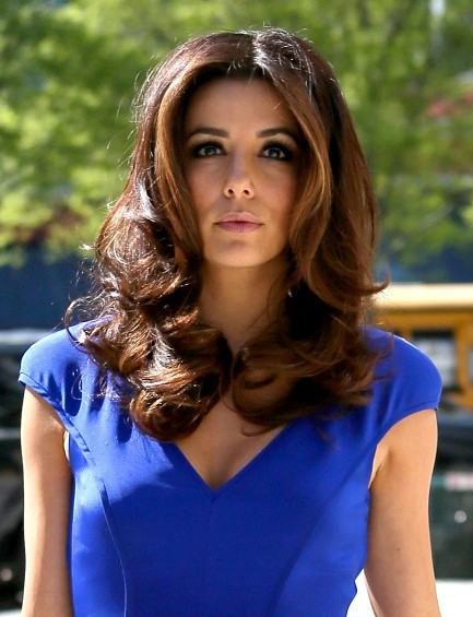 Eva longoria easy medium hairstyles for waves styles popular eva longoria easy medium waves hairstyles urmus Choice Image