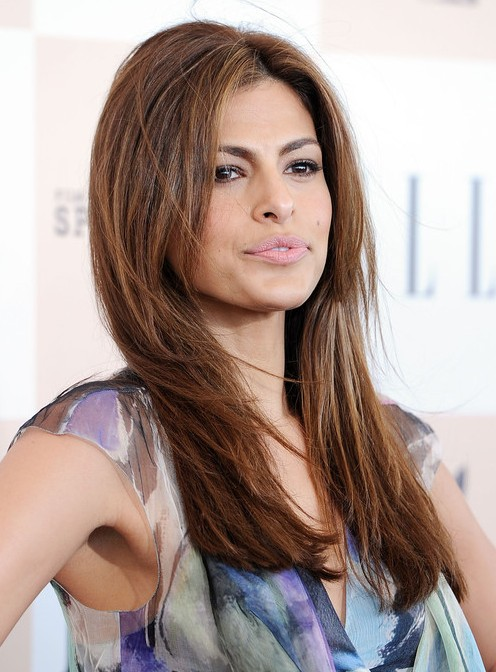 Super Eva Mendes Easy Long Layered Hairstyle For Straight Hair Popular Hairstyle Inspiration Daily Dogsangcom