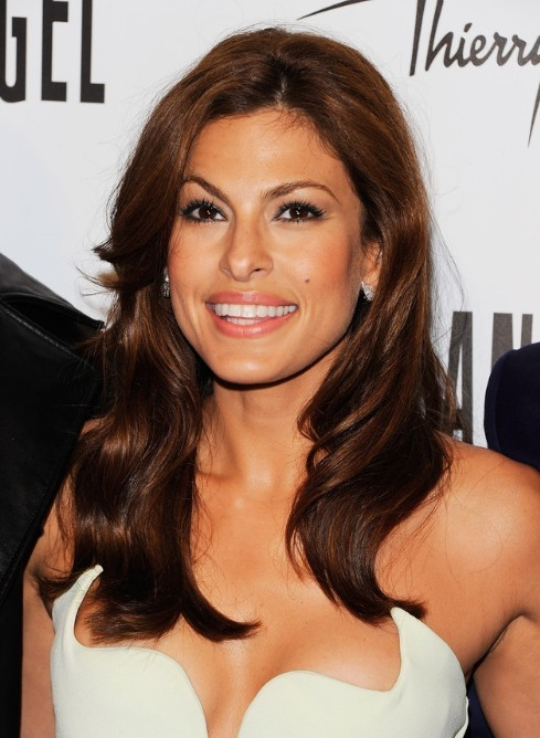 Eva Mendes Loose Wavy Hairstyle for Long Hair 2013