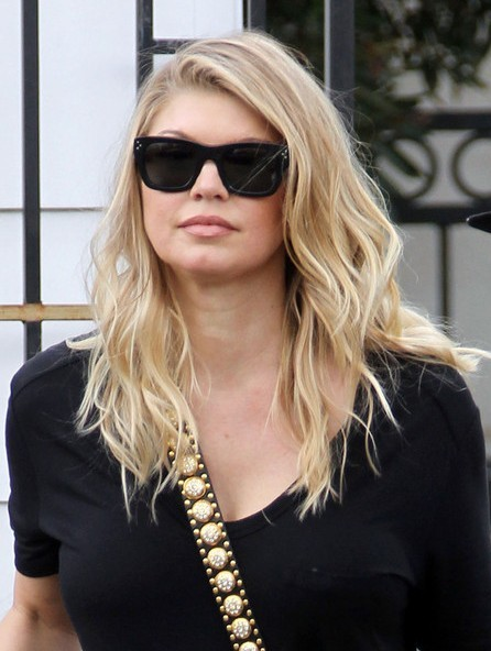 Fergie Casual Long Layered Hairstyles 2013