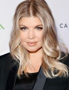 Fergie Medium Hairstyle for Trendy Color 2013