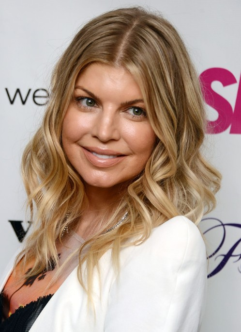 Fergie Medium Hairstyles 2013 for Curly Hair
