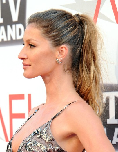 Gisele Bundchen Ponytail Hairstyles for Long Hair 2013