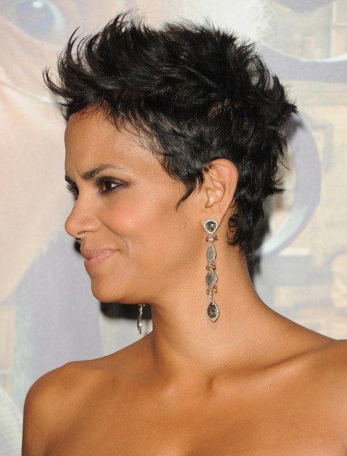 of Halle Berry Black Cropped Pixie Haircuts - Wiki: Halle Berry