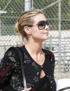 Heidi Klum Casual Updo Hairstyle 2013 for Medium Hair
