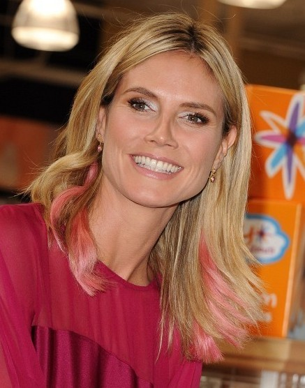 Heidi Klum Easy Medium Hairstyle 2013 for Straight Hair