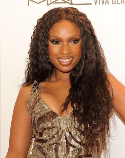 Jennifer Hudson Brown Long Waves Hairstyles
