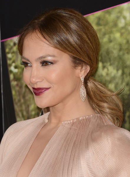 Jennifer Lopez Brown Ponytail Hairstyles 2013