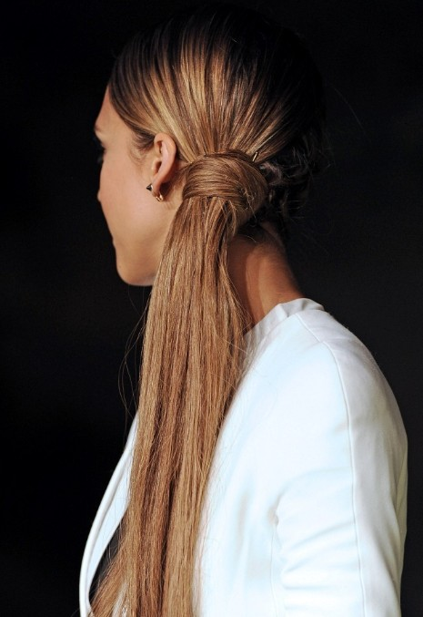 Jessica Alba Beautifully Long Ponytail Hairstyles 2013
