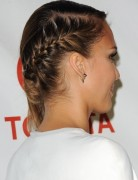 Jessica Alba Long Ponytail Braid Hairstyles 2013