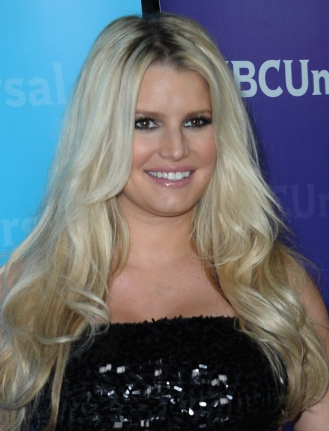 Jessica Simpson Tousled Long Waves Hairstyles 2013