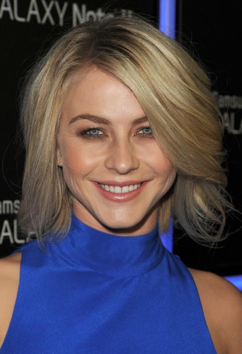 Julianne Hough Medium Choppy Layers Hairstyles 2013