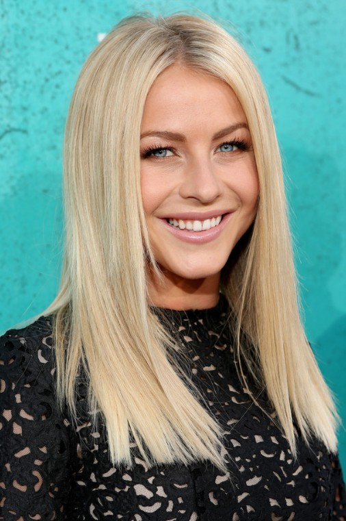 julianne hough blonde medium straight hairstyle popular