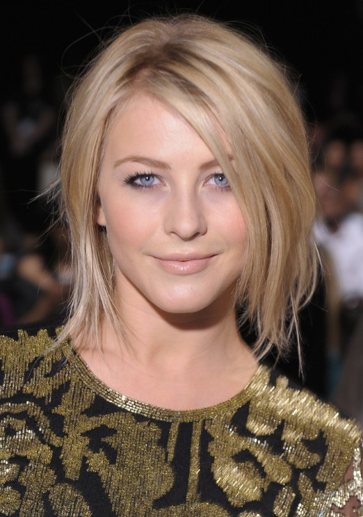 Admirable Julianne Hough Shoulder Length Bob Haircut For Straight Hair Hairstyle Inspiration Daily Dogsangcom