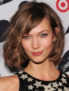 2013 Brown Short Curly Hairstyles with Side Bangs