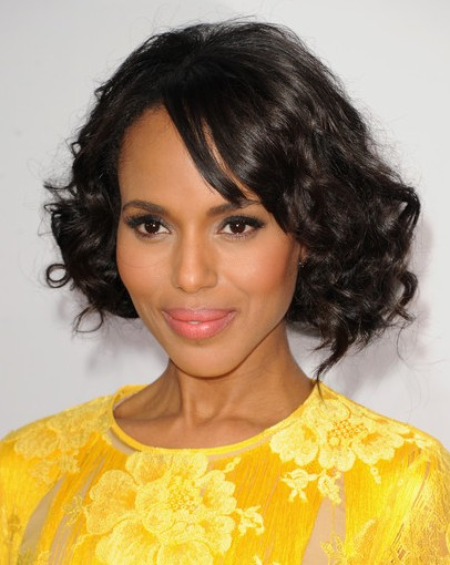 ... Washington Haircuts: Short Curly Hairstyles with Bangs/Getty Images