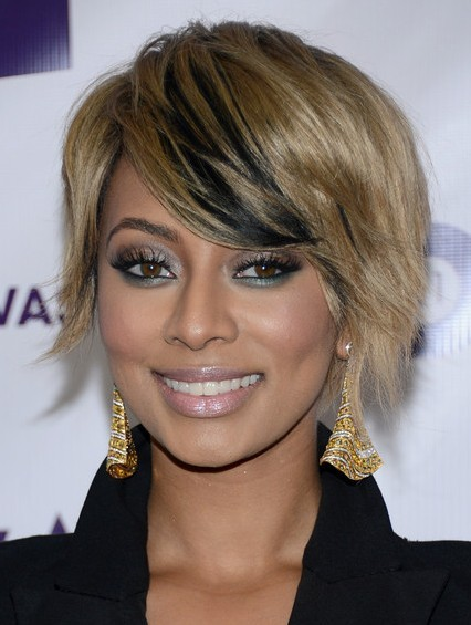 Short Hairstyles with Bangs: Keri Hilson Haircuts 2013/Getty Images