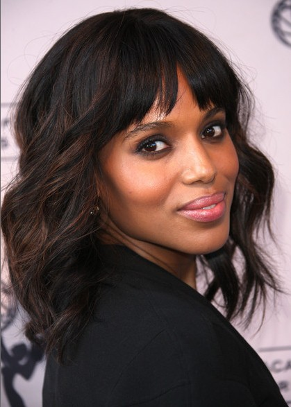 Kerry Washington Soft Waves Haircuts For Medium Hair Popular Haircuts