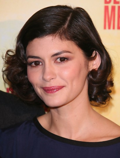 Audrey Tautou Short Haircuts for Curly Hair