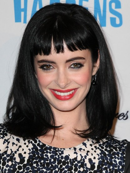 Krysten Ritter Black Medium Straight Hairstyles With Blunt