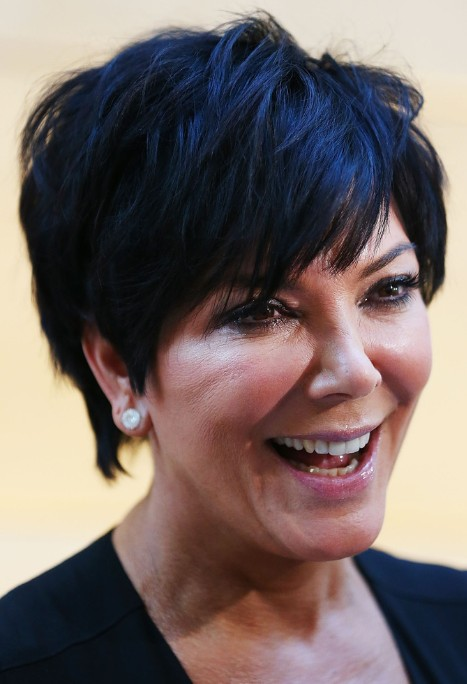 Kris jenner black short layered hair styles