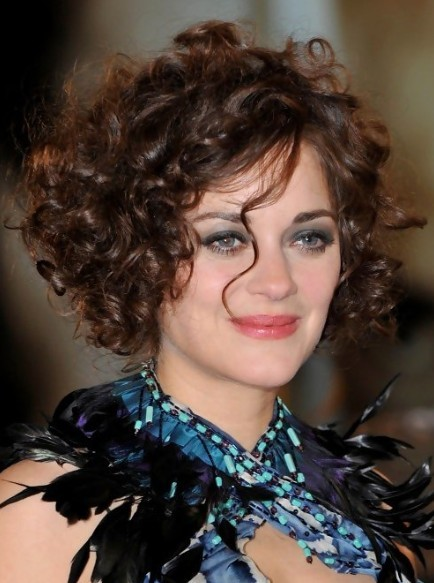 Picture of marion cotillard curly hairstyles for short hair bauer