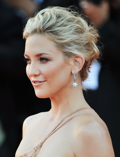 Hairstyles For Short Hair Upto Shoulders : Kate Hudson Messy Upstyle Hairdos for Long Hair - PoPular Haircuts