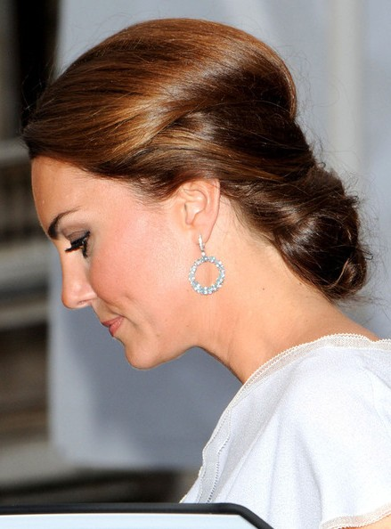 Kate Middleton Chignon Hairstyles 2013