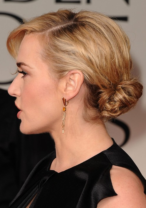 Kate Winslet Formal Updo Hairstyle Popular Haircuts