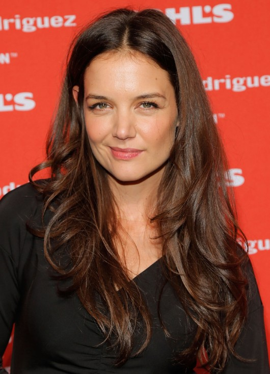 Katie Holmes Tousled layered Hairstyles 2013