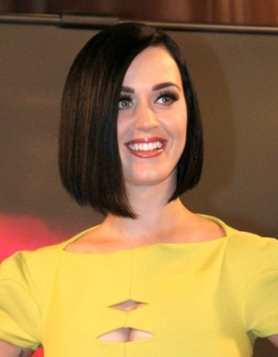 Katy Perry Short Straight Bob Hairstyle Popular Haircuts