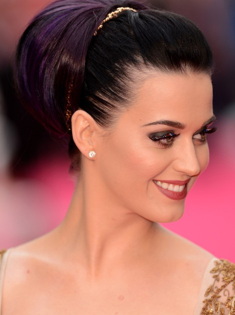 Katy Perry Updo Hairstyles for Long Hair 2013