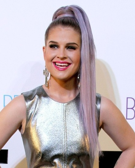 Kelly Osbourne Long Ponytail Hairstyle Popular Haircuts