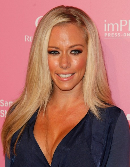 Kendra Wilkinson Sleek Long Straight Hairstyles 2013