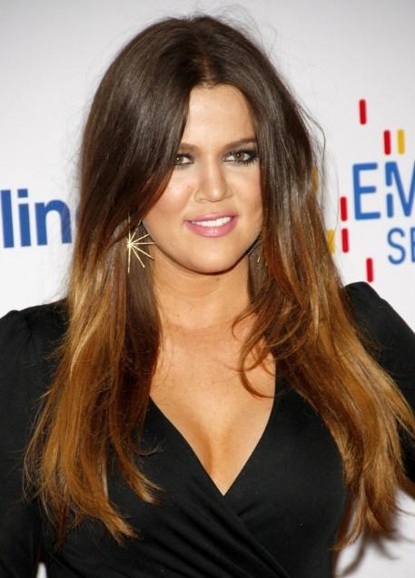 Khloe Kardashian Sleek And Straight Hair Style Popular