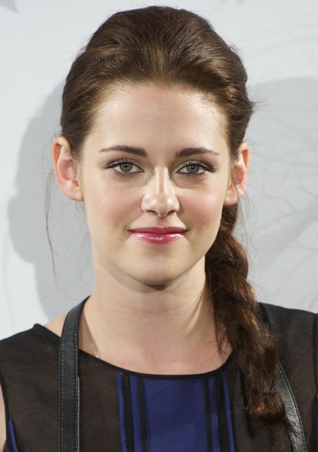 Kristen Stewart Braided Hairstyle for Long Hair