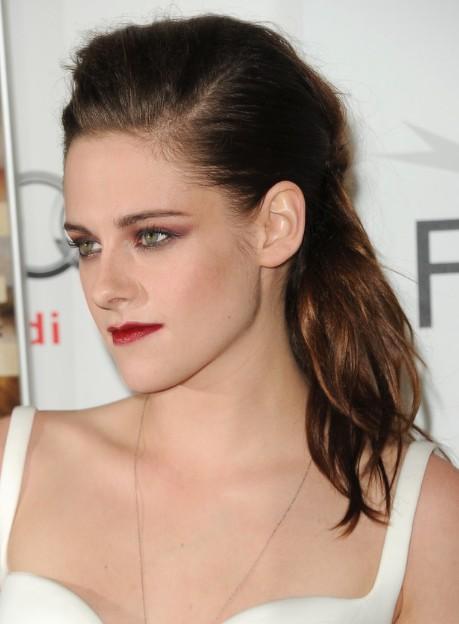 Kristen Stewart Ponytail Hairstyle 2013 - PoPular HaircutsKristen Stewart Hair 2013