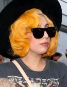 Lady Gaga Short Curly Hairstyles 2013