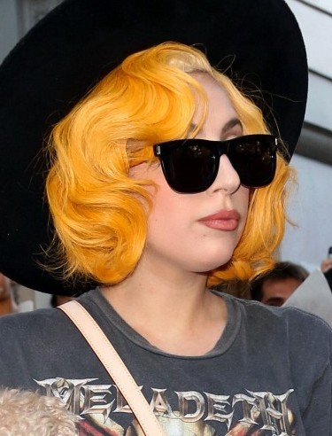 Lady Gaga Short Curly Hairstyles 2013