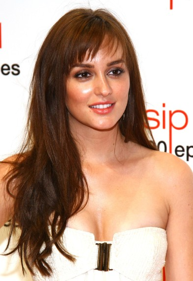 Leighton Meester Choppy Layered Hairstyle For Long Hair Popular