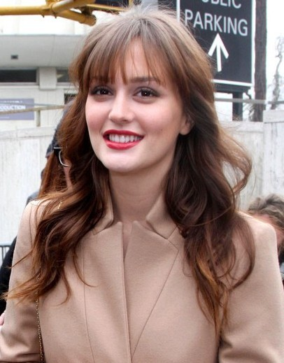 Leighton Meester Long Soft Waves Hairstyles 2013