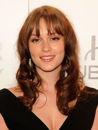 Leighton Meester Loose Waves Shoulder Length Hair Styles Popular