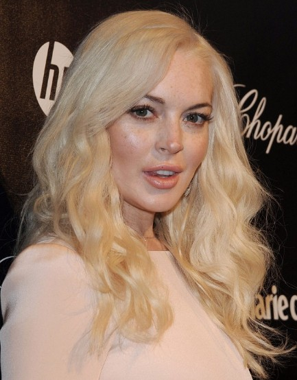 Pleasing Lindsay Lohan Blonde Long Curly Hair Styles Popular Haircuts Hairstyle Inspiration Daily Dogsangcom