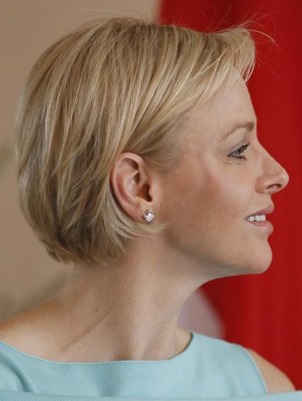 Charlene Wittstock Razored Bob Hairstyle For Short Hair