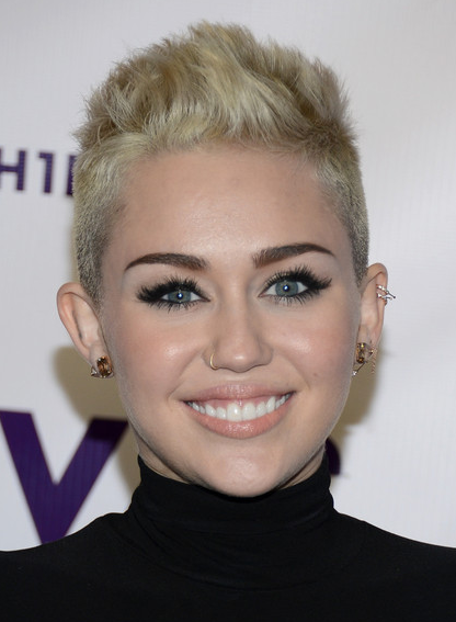 Miley Cyrus Haircuts: Very Short Hairstyles for Blonde Hair/Getty ...