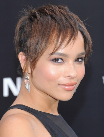 Zoe Kravitz Layered Hairstyle for Short Hair