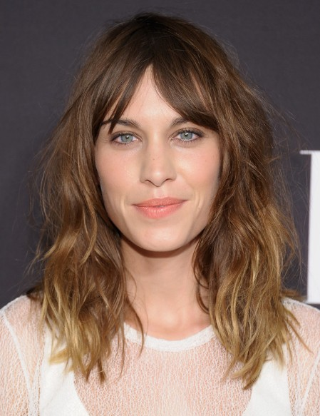 Alexa Chung Layered, Medium Messy Hairstyles 2013