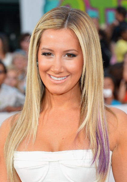 Ashley Tisdale, Ombre Long Hairstyles for Straight Hair