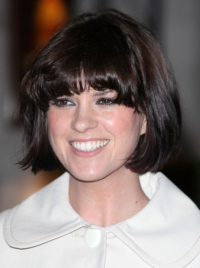 Blunt Bob Haircuts With Blunt Bangs Dawn Porter Short
